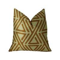 Plutus Arrow Maze Cream and Brown Handmade Luxury Pillow