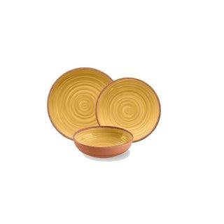 Rustic Swirl 12-Piece Dining Set (Yellow)
