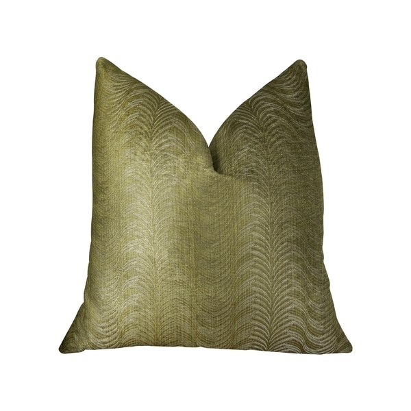 Plutus Feathered Strokes Taupe Handmade Decorative Throw Pillow