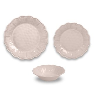 Saville Pearl Blush 12-Piece Dinnerware Set