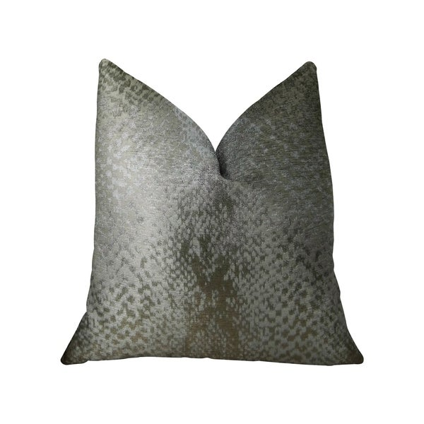 Plutus Venetian Silver Handmade Decorative Throw Pillow