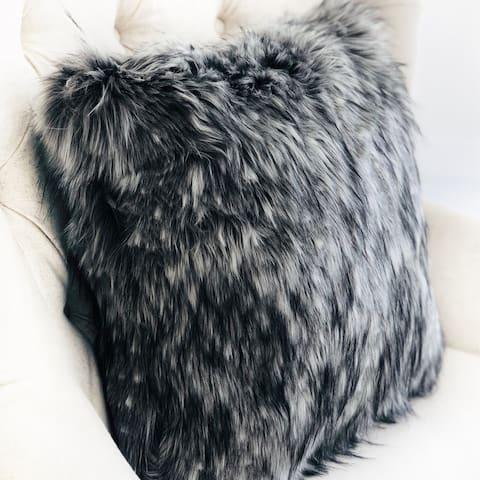 Plutus Cozy Siberian Husky Gray White Black Handmade Decorative Throw Pillow