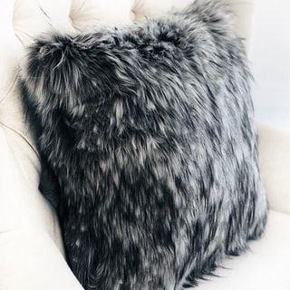 Link to Plutus Cozy Siberian Husky Gray White Black Handmade Decorative Throw Pillow Similar Items in Decorative Accessories