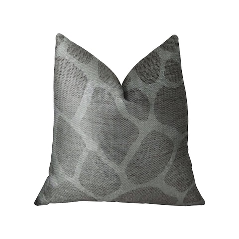 Plutus Soft Giraffe Gray and White Handmade Decorative Throw Pillow