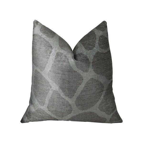 Plutus Soft Giraffe Gray and White Handmade Decorative Throw Pillow