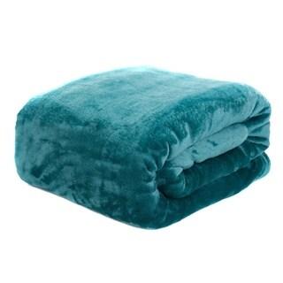 HYSEAS Velvet Plush Blanket, Home Fleece Bed Throw Blanket, Queen Size, Teal