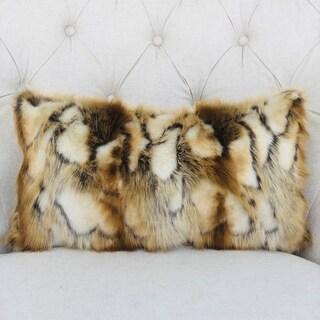 Plutus Elegant Brandy Fox Light Brown Gold White Handmade Luxury Pillow