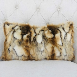 Link to Plutus Elegant Brandy Fox Light Brown Gold White Handmade Decorative Throw Pillow Similar Items in Decorative Accessories