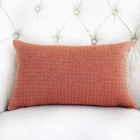 Plutus Kashmiri Oak Orange and Taupe Handmade Decorative Throw Pillow
