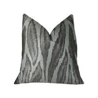 Plutus Agate River Gray Silver Ivory Handmade Luxury Pillow
