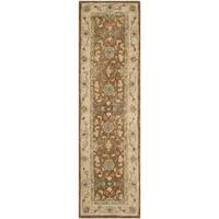 Safavieh Handmade Anatolia Oriental Brown/ Ivory Hand-spun Wool Rug - 2'3 x 8'
