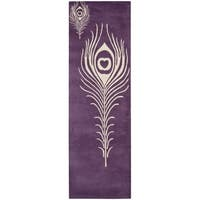 Safavieh Hand-Tufted Soho Purple/ Ivory Wool/ Viscose Rug (2'6 x 12')