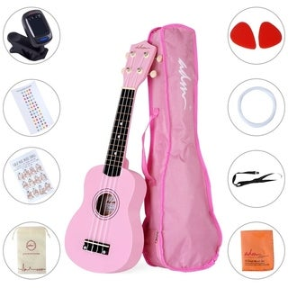 "ADM 21"" Economic Soprano Ukulele Start Pack with Gig bag, Tuner, Pink"