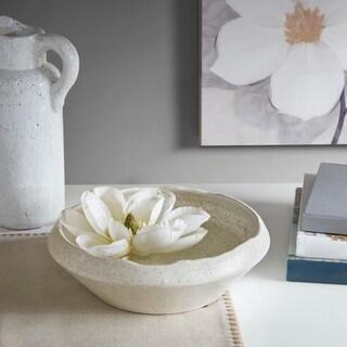 Madison Park Shae White Ceramic Bowl - Medium