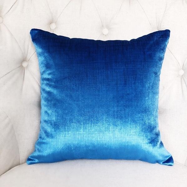 Plutus Electric Azure Blue Handmade Decorative Throw Pillow