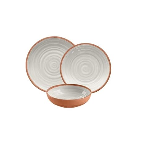 Rustic Swirl 12-Piece Dining Set (Ivory)