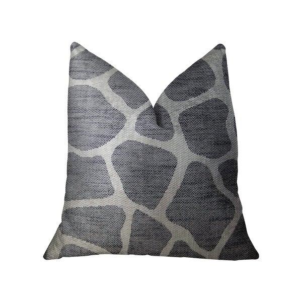 Plutus Sable Giraffe Black and Cream Handmade Decorative Throw Pillow