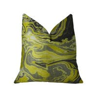 Plutus Marble Onyx Yellow Gray and Black Handmade Luxury Pillow