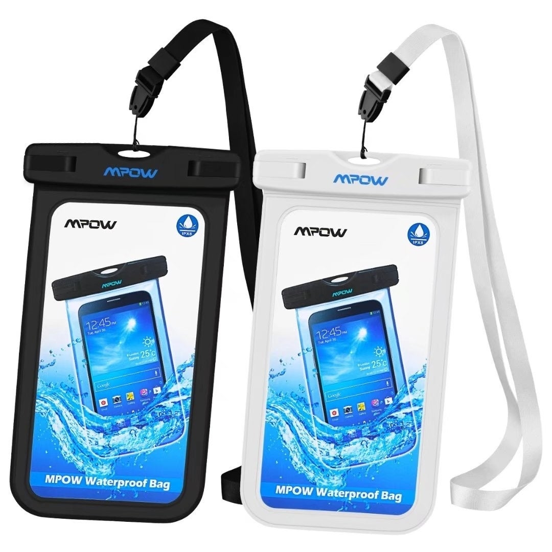 best authentic 91023 278ae Mpow Waterproof Case Cellphone Dry Bag for iPhone Google Pixel HTC  LG(2-Pack)