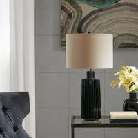 Madison Park Winston Black Ceramic Table Lamp