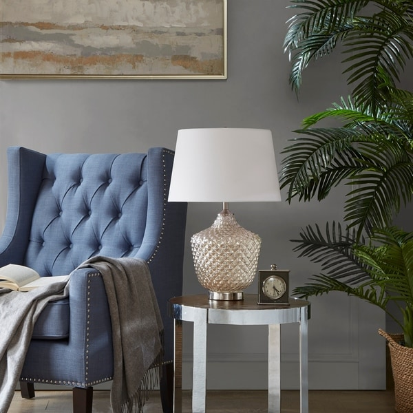 Madison Park Alexandria Silver Tapered Table Lamp
