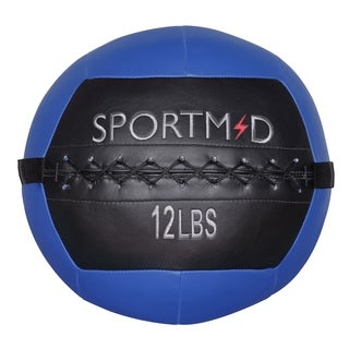 12 lbs Soft Medicine Ball Wall Ball for CrossFit Exercises Strength Training Cardio Workouts Muscle Building Balance, Blue