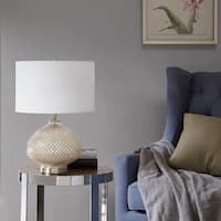 Madison Park Alexandria Silver Rounded Table Lamp