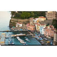 """Italian Fishing Town"" Framed Print on Canvas"