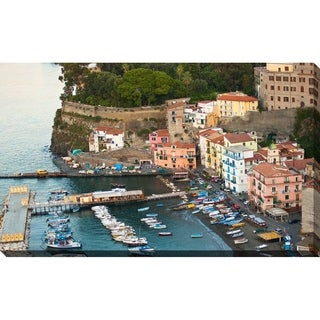 """Italian Fishing Town"" Framed Print on Canvas"