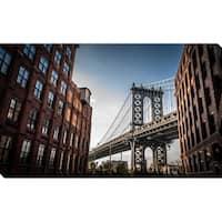 """Manhattan, NYC"" Framed Print on Canvas"