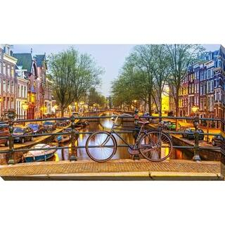 """""""Amsterdam Bicycle"""" Framed Print on Canvas"""
