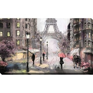 """Paris Streets II"" Framed Print on Canvas"