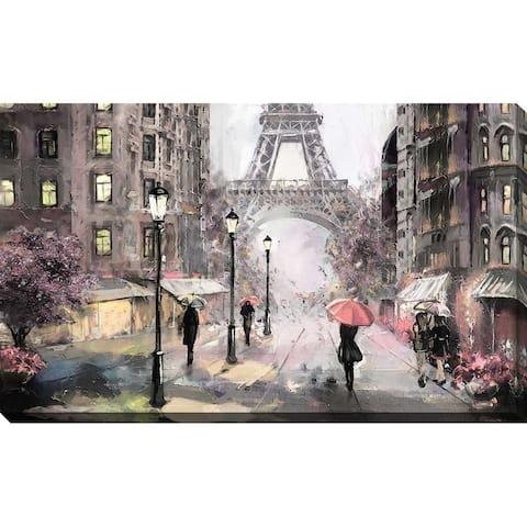 """Paris Streets II"" Canvas Wall Art"