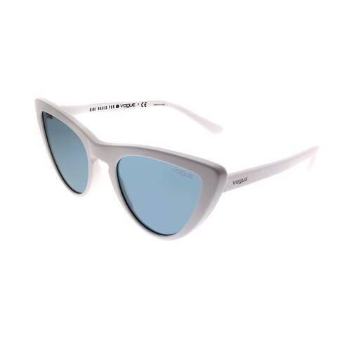 Vogue Eyewear Cat-Eye VO 5211S Gigi Hadid For Vogue 260480 Women White Frame Blue Lens Sunglasses