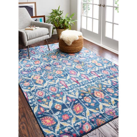 Guy Transitional Machine Made Area Rug