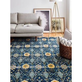 "Greyson Navy Transitional  Area Rug - 3'6"" x 5'6"""