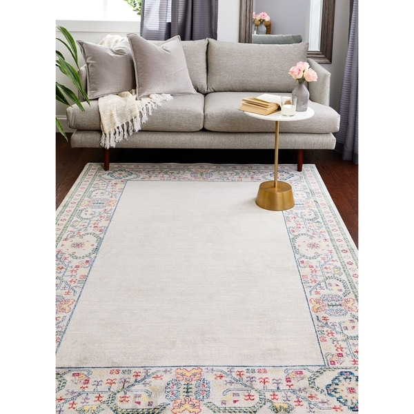 "Gustav Ivory Transitional Area Rug - 8'6"" x 11'6"""