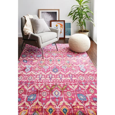 "Guy Fuchsia Transitional Area Rug - 8'6"" x 11'6"""