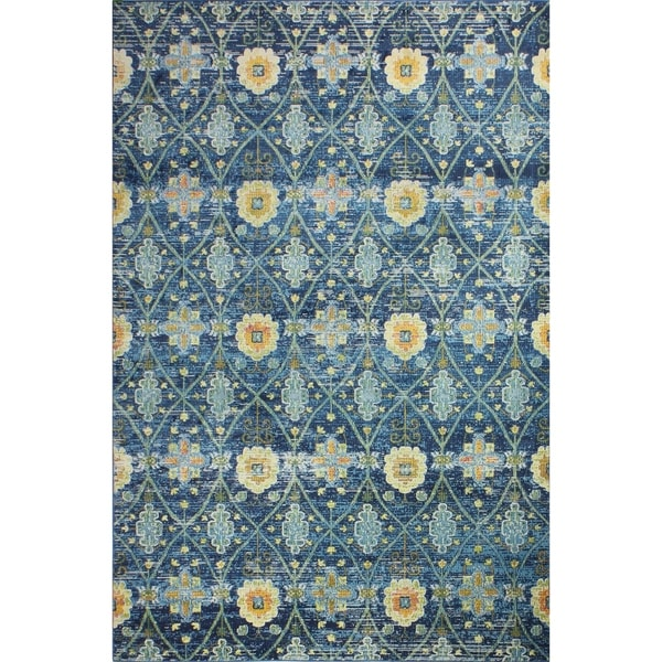 "Greyson Navy Transitional Area Rug - 8'6"" x 11'6"""