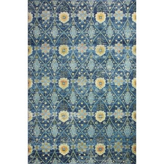 "Greyson Navy Transitional  Area Rug - 7'6"" x 9'6"""