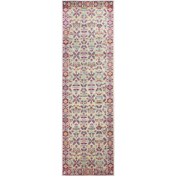 "Gale Ivory Transitional Area Rug - 2'6"" x 8' Runner"
