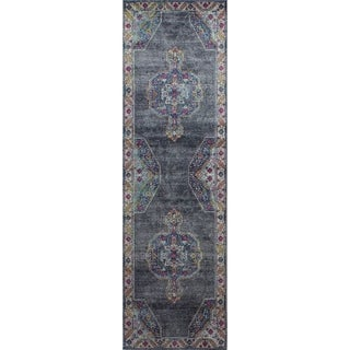 "Gavin Grey Transitional Area Rug - 2'6"" x 8'"