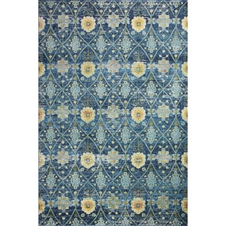 Greyson Navy Transitional  Area Rug - 5' x 7'6""