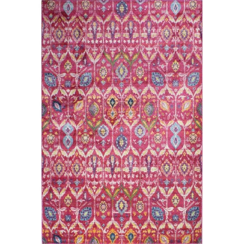 Guy Fuchsia Transitional Area Rug - 5' x 7'6""