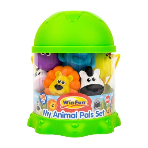 10 Pc. My Animals Bath Playset