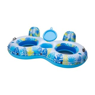 Big Sky - 2 Person Floating Island with built in cooler - Multi
