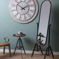 Industrial Cheval Full Length Floor Mirror - Black