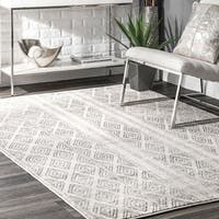 "nuLOOM Grey Contemporary Geometric Diamond Area Rug - 9' 10"" x 14'"