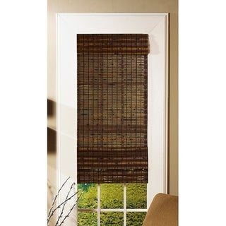 Radiance Cordless Cocoa Havana Flatweave Bamboo Roman Shade (More options available)