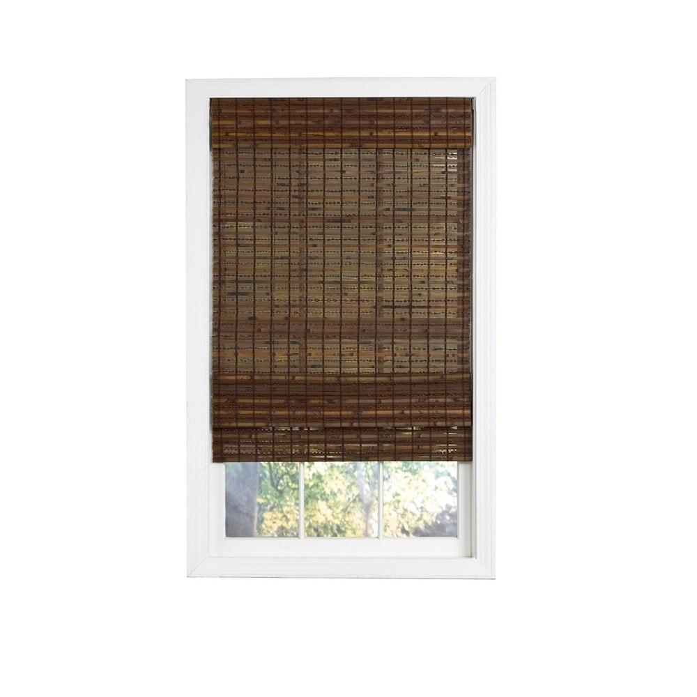 Shop Radiance Cordless Cocoa Havana Flatweave Bamboo Roman Shade from Overstock on Openhaus